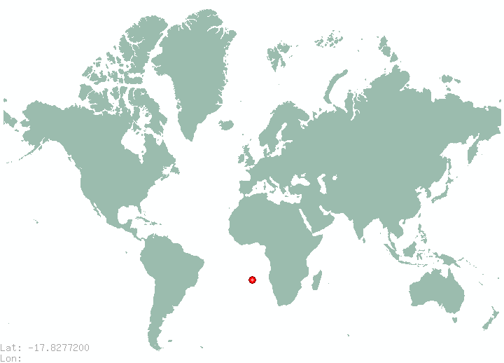 Harare in world map